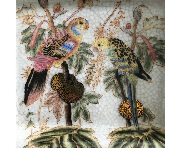 Vide poche décor perroquets