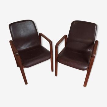 Paire de fauteuils scandinave Dyrlund