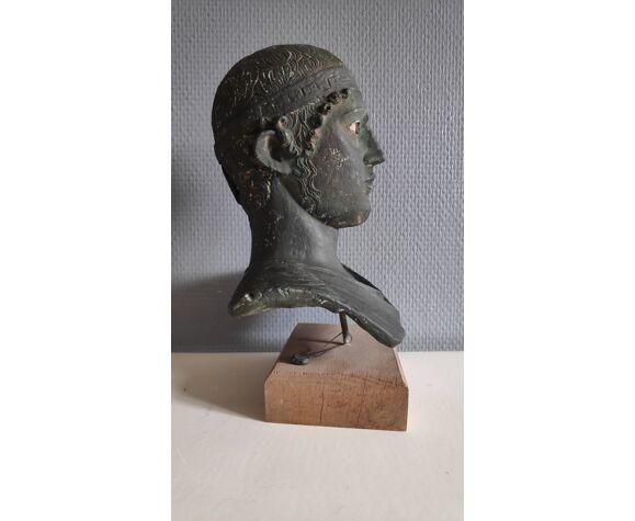 Buste de l'Aurige de Delphes en plâtre