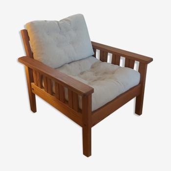 Vintage pine armchair