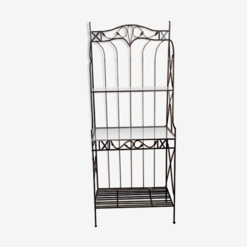 Iron shelf and glass trays