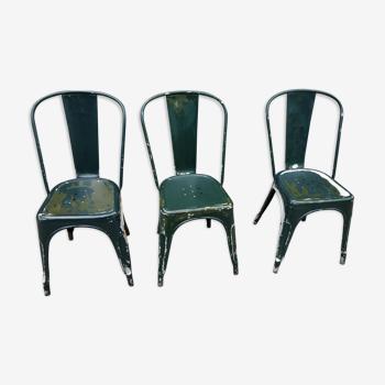 Set de 3 chaises vintage Tolix par Xavier Pauchard 1930