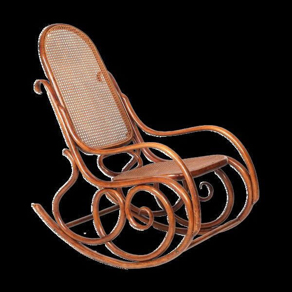 Rocking chair vintage en bois courbé Vienne vers 1900