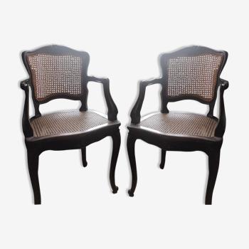 Set de 2 fauteuils Louis XV