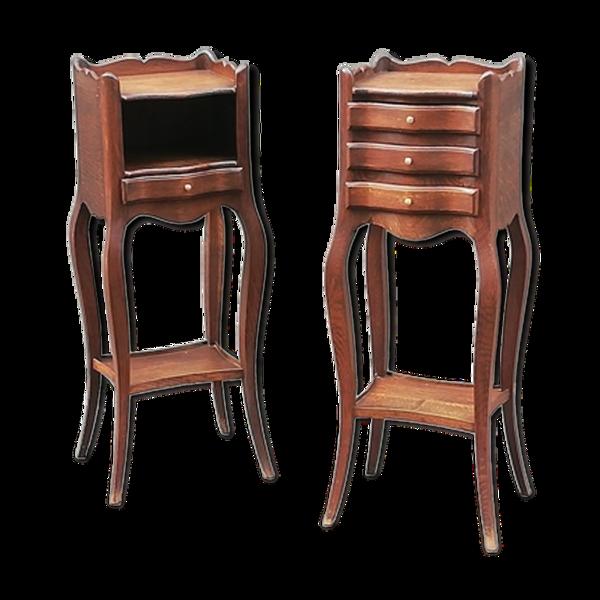 Selency Paire de tables de chevet de style Louis XV
