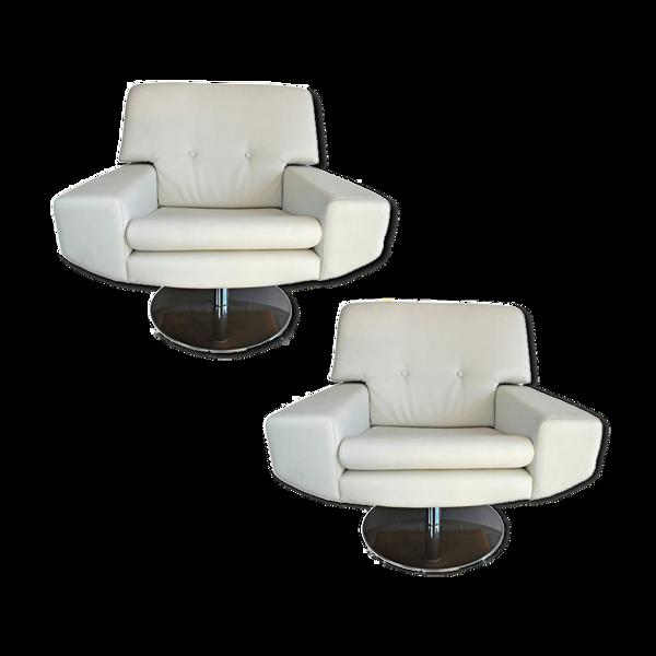 Selency Paire de fauteuils italiens anciens vers 1970