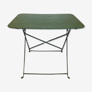 Ancienne table de bistrot pliante