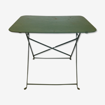 Old folding bistro table