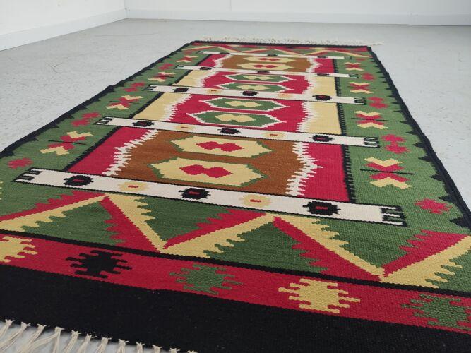 Tapis kilim vintage laine 180x194cm