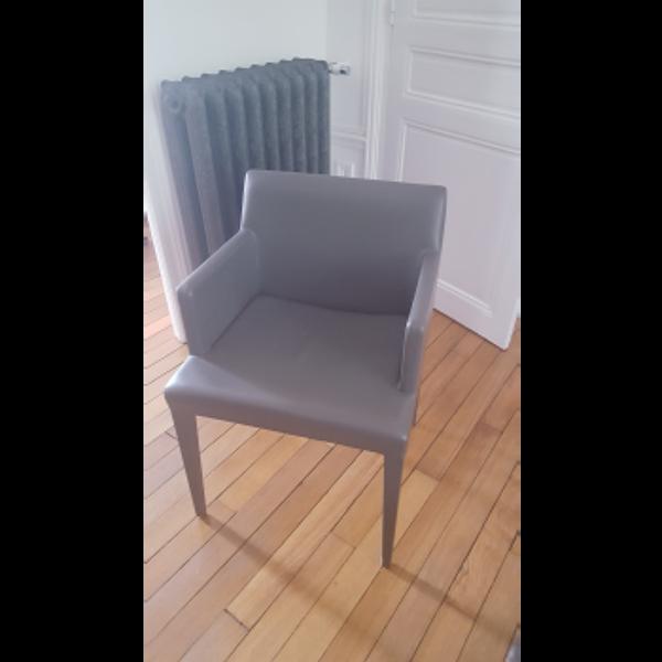 Lot de 2 fauteuils en cuir LiZ B Poltrona Frau