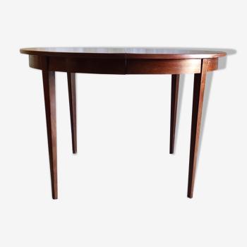 Table à manger ronde en palissandre années 60