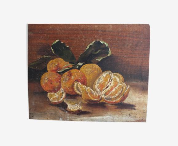 Nature morte aux oranges signée Derycksen