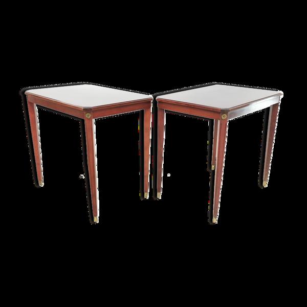 Paire de tables d'appoint vintage style Empire