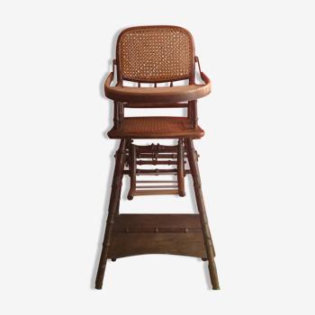 Chaise haute cannage années 30