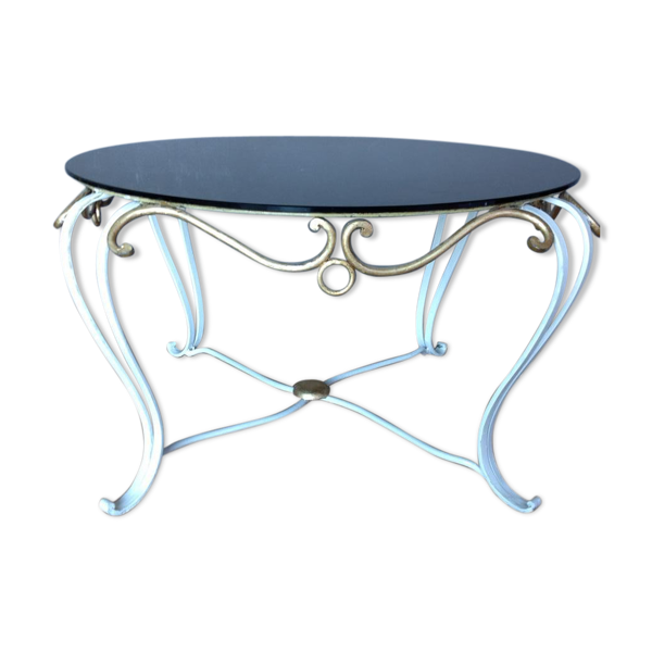 Table basse en fer forgé