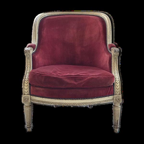 Selency Bergère velours style Louis XV XIXème
