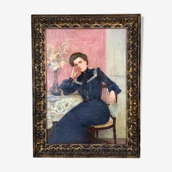 Portrait of a woman circa 1900