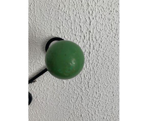 Portemanteau vintage 1960 5 patères boules - 64 cm
