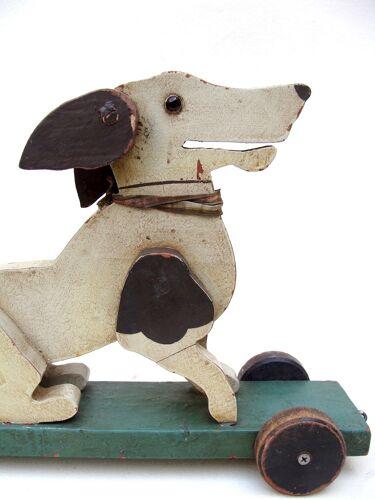 Old toy roller dog