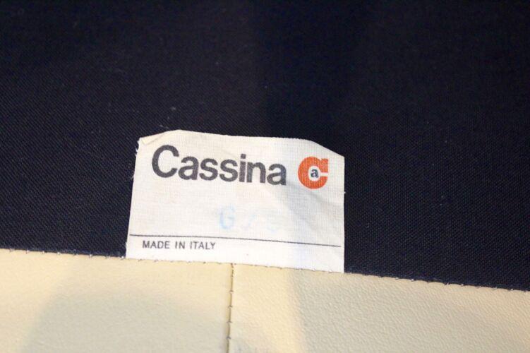 Canapé cuir Maralunga par Vico Magistretti pour Cassina