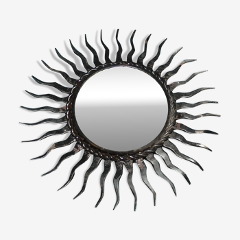 Miroir vintage soleil 17cm