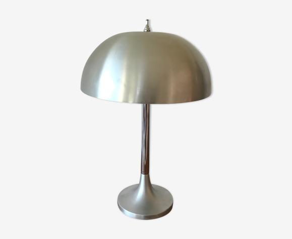 Lampe champignon acier brossé circa 1960