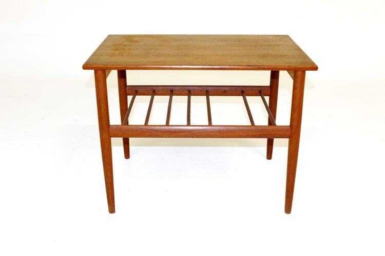 Table d'appoint en teck, Yngvar Sandström, Suède, 1960