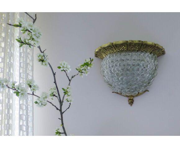 Applique en laiton fleurs