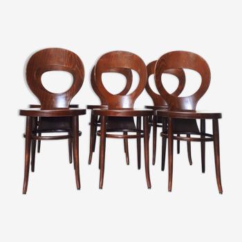 6 chaises Mouette par Baumann années 60