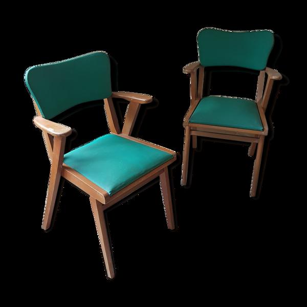Set de 2 chaises années 1950