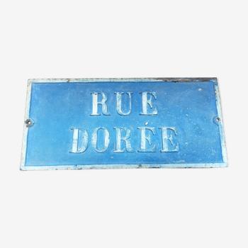 Plaque de rue ancienne