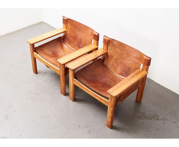Paire de fauteuils Natura par Karin Mobring Suède années 1970