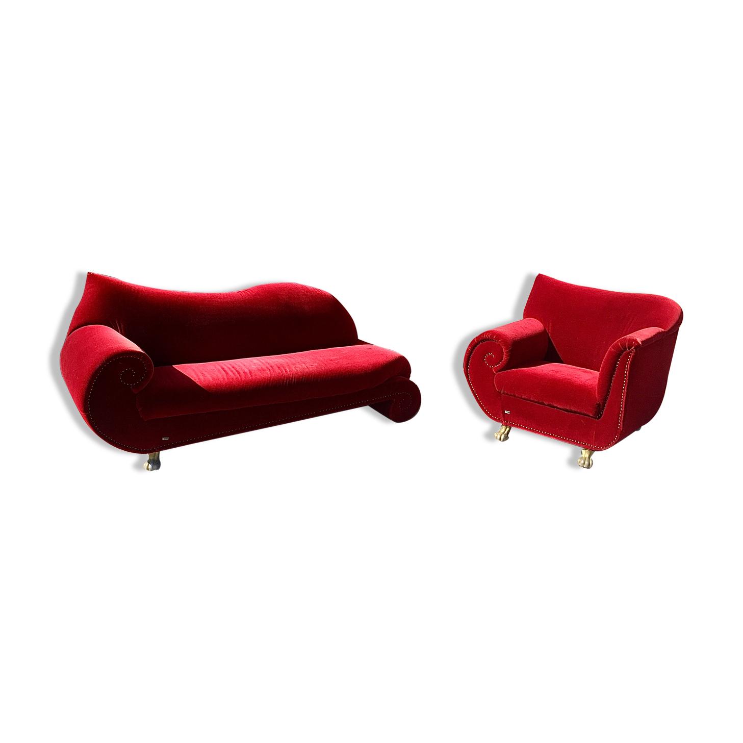 Canapé et fauteuil Bretz