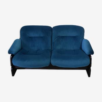 Canapé rembourré de 2 places années 1960