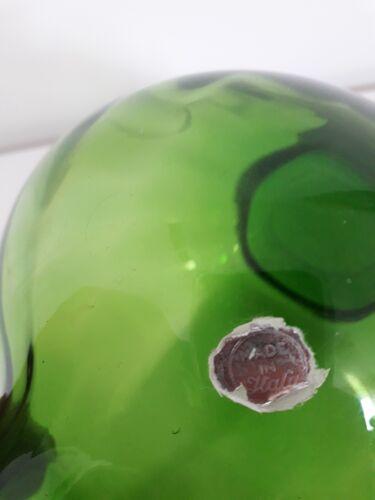 Vase en verre soufflé Italie années 60