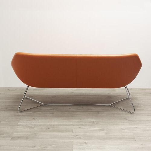 Allermuir open sofa in orange leather