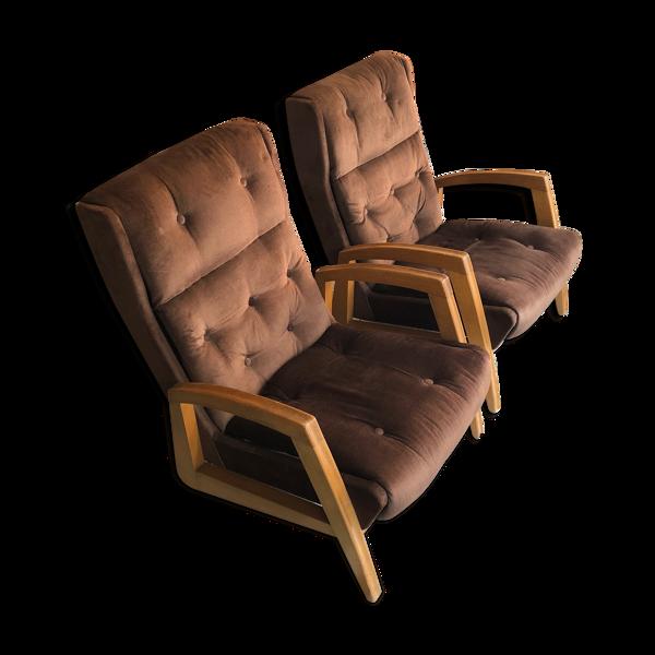 Paire de fauteuils FS144 de Steiner