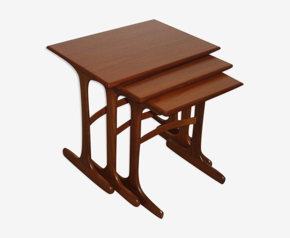 Set de tables gigognes scandinave, années 60