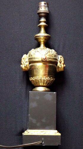 Ancienne lampe en bronze et marbre bacchus
