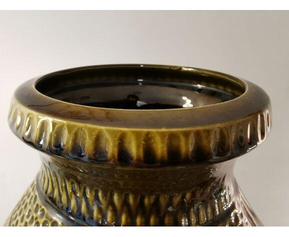 Vase vintage en céramique glacée West Germany