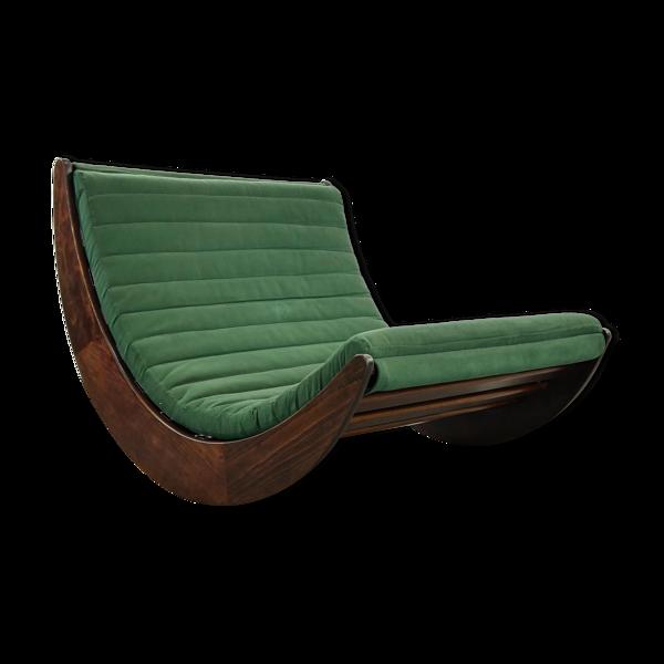 Rocking-chair Tandem Relaxer par Verner Panton pour Rosenthal, Allemagne