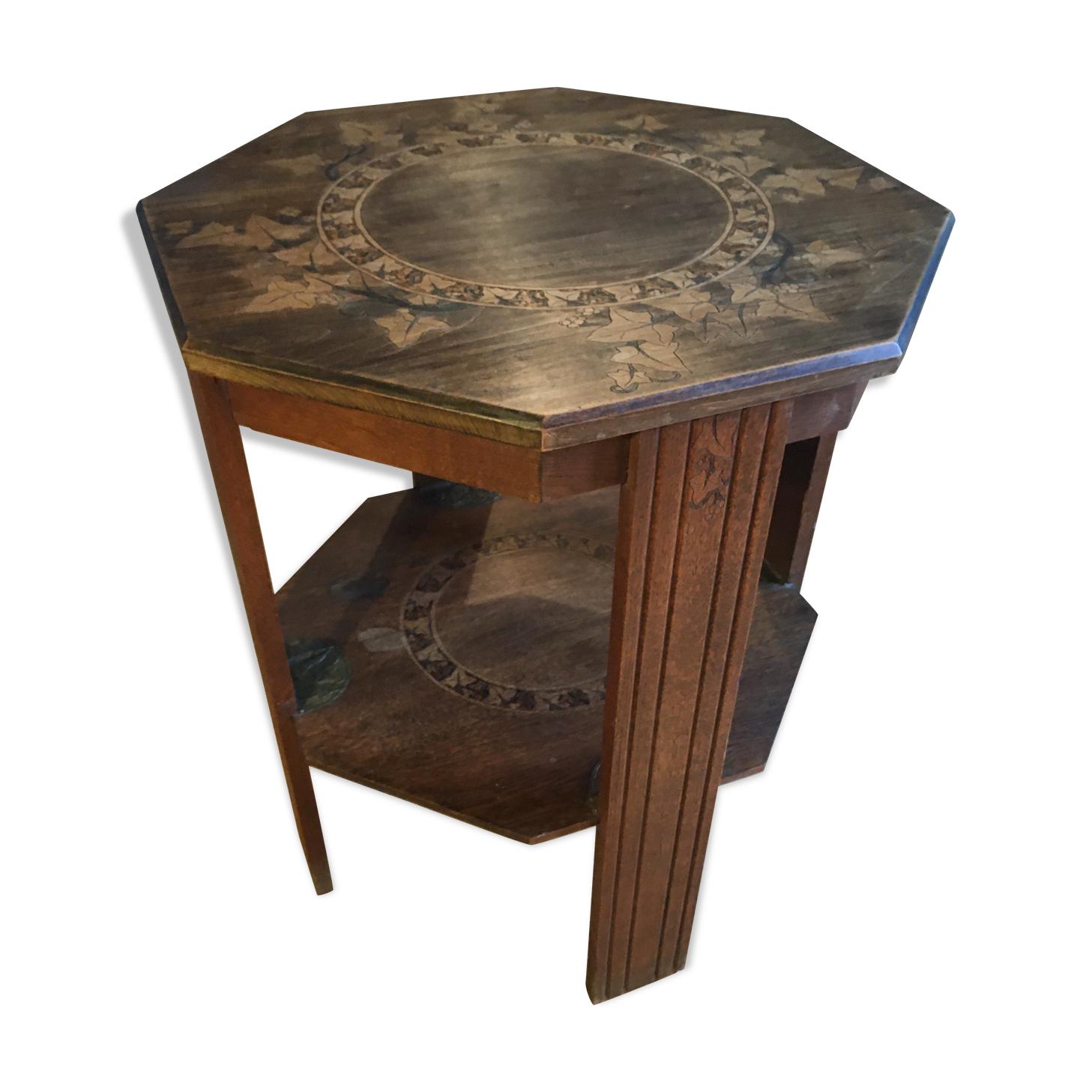 Table octogonale guéridon art déco