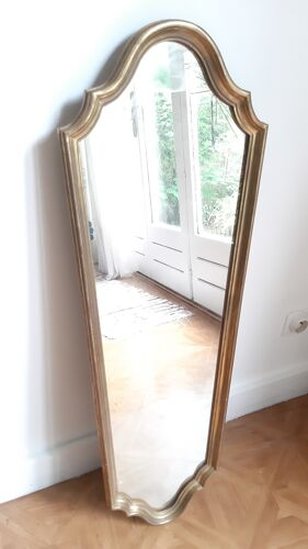 Miroir long bois doré