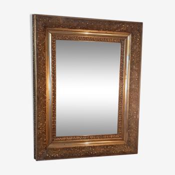 Miroir, cadre doré