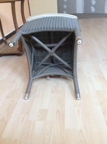 Chaise en rotin vert