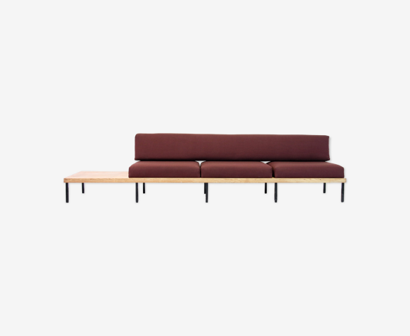 Canapé minimaliste de banc en bois de chêne