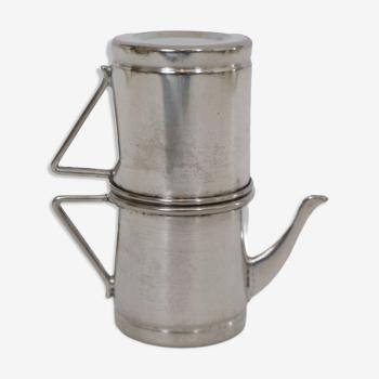 Théière argenté vintage forme miniature de moka napolitain