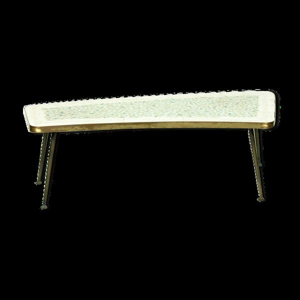 Table basse en laiton en laiton de forme organique du milieu du siècle, années 1950.