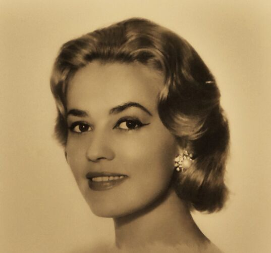 "Photographie originale de "" Jeanne Moreau "" de 1959"
