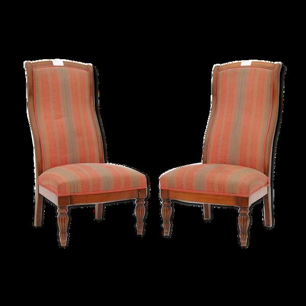 Paire de chaises basses